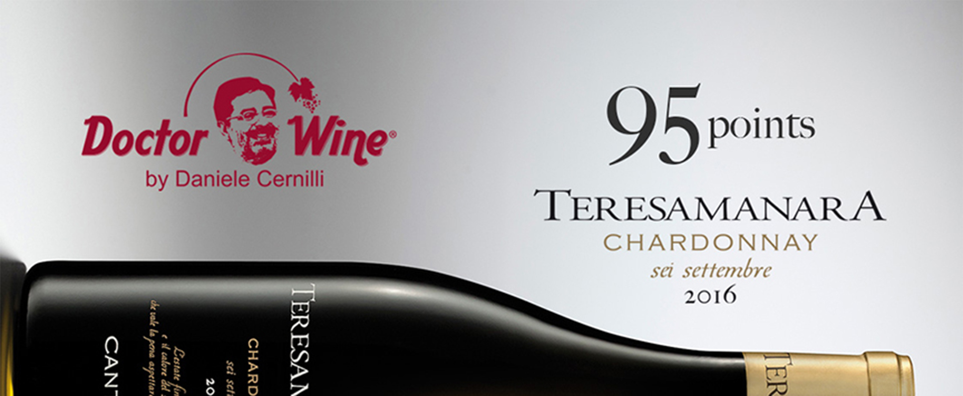 95 points for Teresa Manara Chardonnay from Daniele Cernilli and Doctor Wine!