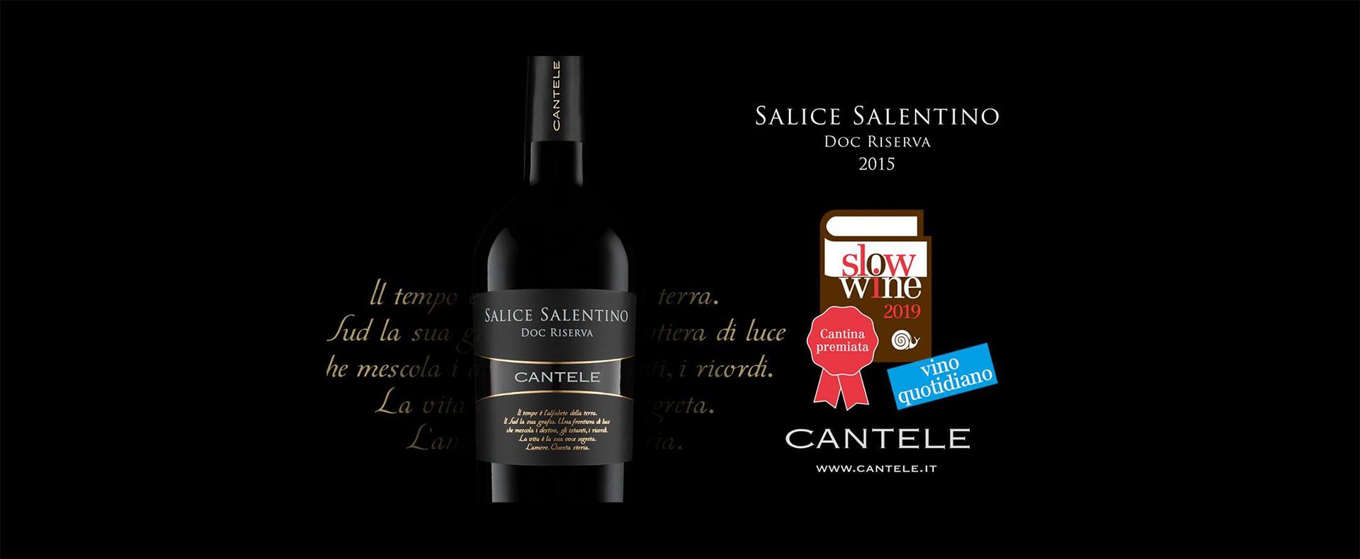 "Cantele Salice Salentino wins Slow Wine award for ""daily wine"""