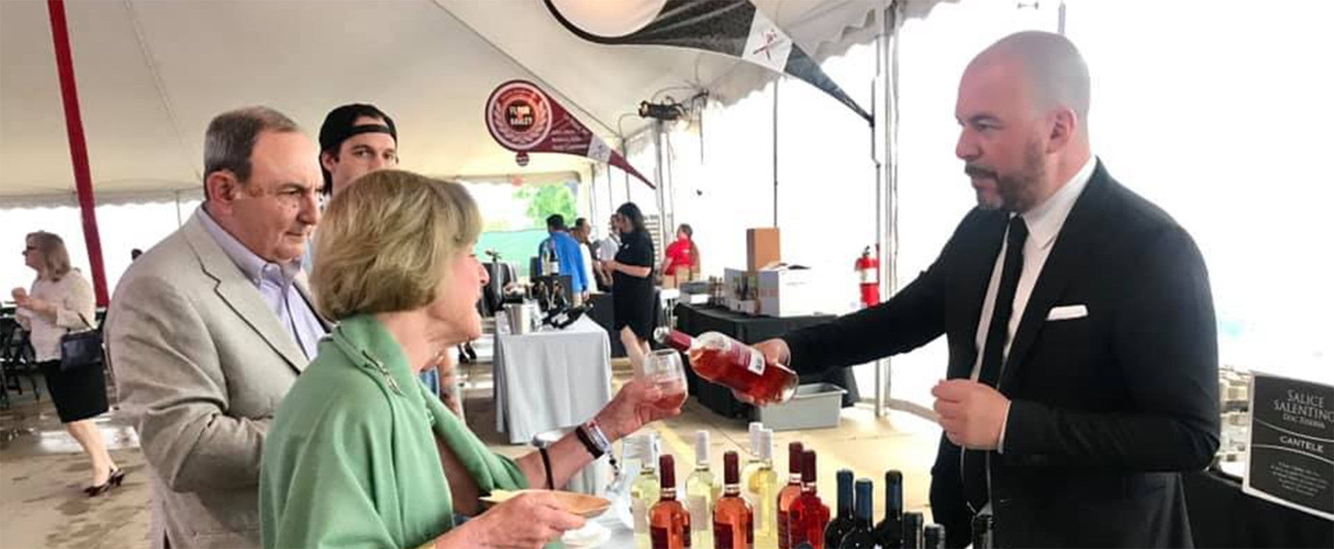 Pouring wine for a good cause in Cleveland, OH